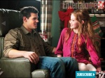 Jacob (Taylor Lautner) and Renesmee (Mackenzie Foy) in what seems to be a friendly discussion about who-knows-what