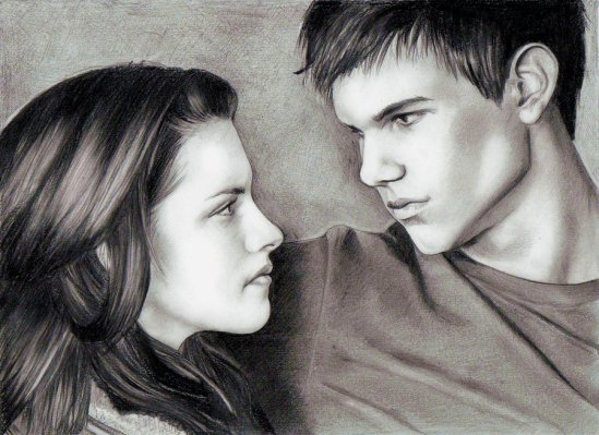 Twilight Bella Jacob Fan Art Loga90