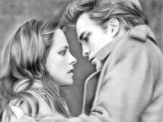 Twilight Bella Edward Fan Art Loga90